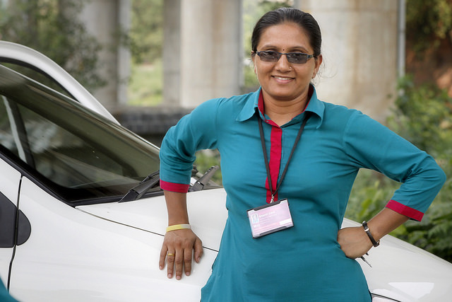 Azad Foundation India-women cab driver