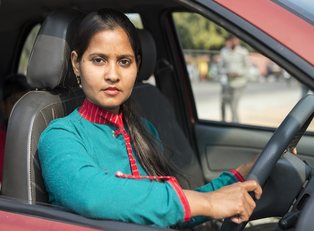 Azad Foundation India-chand, women cab driver